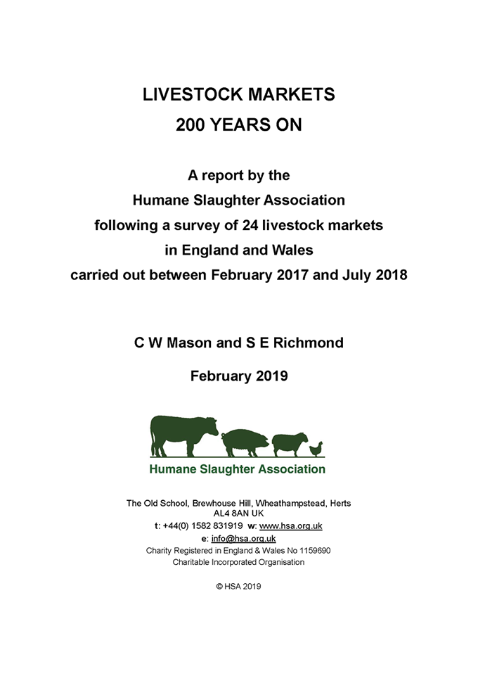 Livestock Markets 200 years on