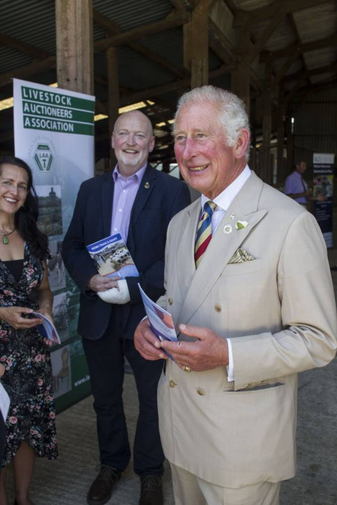 L-R, Dr Caroline Nye, Professor Matt Lobley, HRH The Prince of Wales. Photo Credit: Charles Sainsbury-Plaice